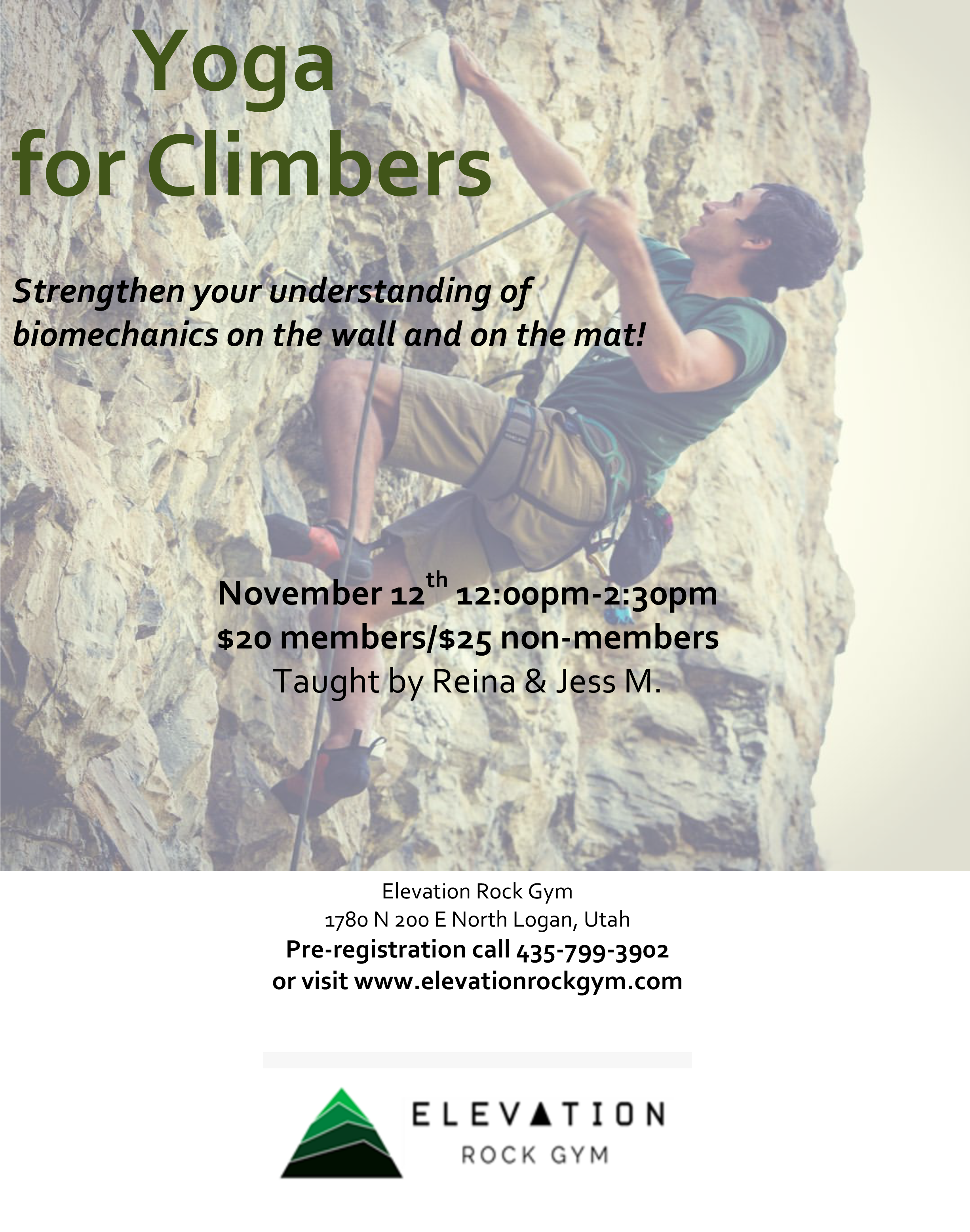 Yoga For Climbers Workshop